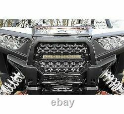 Modquad Front Grill with 10 Light Bar Black/Silver 375890