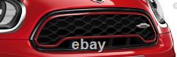 New Mini F60 Black Headlight Trim Rings And Black Jcw Grille Kit F60 Blk Jcw