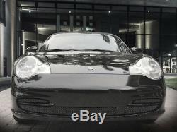 Porsche 996 911 Black Lower Bumper Mesh Grille 3pc 1999 2000 2001 models carrera