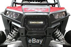 RZR Grill 40 W LED Light Bar Grille for Polaris 1000 XP 2014-2018 SCALES Black