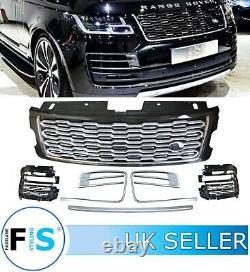 Range Rover Vogue L405 Sva Front Grille Fog Lamp Grille Covers 2018+ Blk Chrome