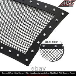SS 1.8mm Blk Z Mesh Grille For 03-06 Chevy Avalanche/03-05 Silverado 1500/SS