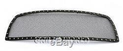 SS 1.8mm Blk Z Mesh Grille For 2009-2012 Dodge Ram 1500