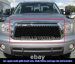 SS 1.8mm Blk Z Mesh Grille For 2010-2013 Toyota Tundra