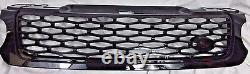 SVR Style Gloss Black Mesh Front Grille Fits 2014-17 Range Rover Sport L494 New