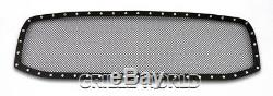 Stainless Steel 1.8mm Blk Z Mesh Grille For 2006-2008 Dodge Ram