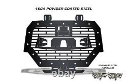 Steel Grille for RIDE COMMAND Polaris RZR 1000 XP 2017-2018 LED LIGHT BAR Black