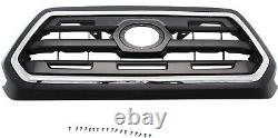 TACOMA 16-17 GRILLE, Chr Shell/Painted Blk Insert, with Emblem Provision, SR5 Mode