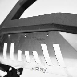 Topline For 1999-2004 Ford F250/F350 AVT Bull Bar Grille Guard Matte Blk/Skid