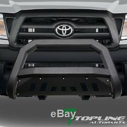 Topline For 2005-2015 Toyota Tacoma AVT Bull Bar Bumper Grille Guard Matte Blk