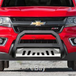 Topline For 2005-2019 Nissan Frontier AVT Bull Bar Grille Guard Matte Blk/Skid