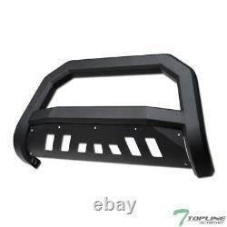 Topline For 2006-2010 Ford Explorer AVT Bull Bar Bumper Grille Guard Matte Blk