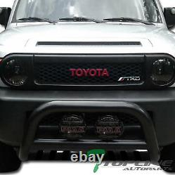 Topline For 2007-2014 Toyota FJ Crusier Bull Bar Bumper Grill Grille Guard Blk