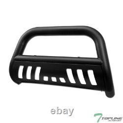 Topline For 2008-2012 Nissan Pathfinder Bull Bar Bumper Grille Guard Matte Blk