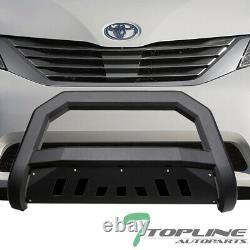 Topline For 2011-2019 Toyota Sienna AVT Bull Bar Bumper Grille Guard Matte Blk