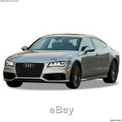 Topline For 2012-2014 Audi A7 RS-Honeycomb Mesh Front Bumper Grille Blk/Chrome