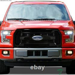 Topline For 2015-2017 Ford F150 OE Honeycomb Mesh Front Hood Bumper Grille Blk