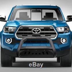 Topline For 2016-2020 Toyota Tacoma AVT Bull Bar Bumper Grille Guard Matte Blk