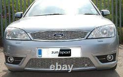 Zunsport Ford Mondeo ST 2000-2007 Front BLACK Stainless Steel Grille Kit