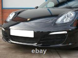 Zunsport Porsche Boxster 981 (12+) Complete Grille Set withParking Sensors- BLACK