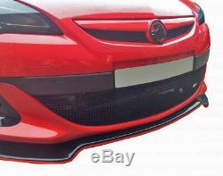 Zunsport Vauxhall Astra J GTC VXR Front Steel Mesh Grille Set 2014-2018 BLACK