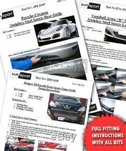 Zunsport Vauxhall Astra J GTC VXR Lower Steel Mesh Grille 2014-2018 BLACK