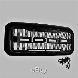 11-16 Ford F250 F350 Super Duty Raptor Style Grille Gloss Black