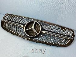 2015 2018 Mercedes Glc W253 A253 Amg Front Bumper Centre Diamond Blk Grill