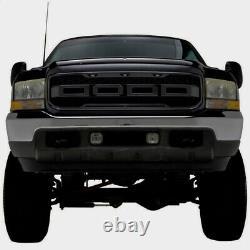 99-04 Raptor Style Grille Pour 99-04 Ford F250 F350 Super Duty Matte Black