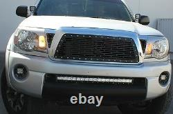Aftermarket Custom Steel Grille Briques Fits 2005-2011 Toyota Tacoma Truck Grill