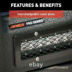 Aries Pro 1.5 Grille Guard Kit Carbon Steel Texture Blk Pour Toyota Tacoma 16-19