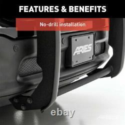 Bélier 1.5 Grille Guard Kit Carbon Steel Semigloss Blk Pour Honda Ridgeline 17-18