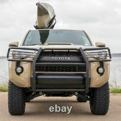 Bélier 1.5 Grille Guard Kit Carbon Steel Semigloss Blk Pour Toyota 4runner 10-18