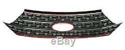 Black 2020 Fits Ford Explorer Snap On Grille Overlay Full Front Grill Couvertures Nouveau