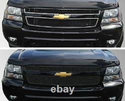 Black Horse 2014-2014 Chevrolet Tahoe Overlay Grille Trims Gloss Black