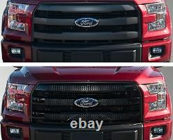 Black Horse 2015-2017 Ford F-150 Overlay Grille Trims Gloss Black