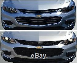 Black Horse 2016-2018 Chevrolet Malibu Overlay Grille Trims Gloss Black