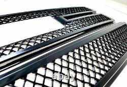 Black Horse 2016-2018 Gmc Sierra 1500 Superposition Grille Garnitures Gloss Black