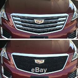 Black Horse 2017-2019 Cadillac Xt5 Overlay Grille Trims Gloss Black