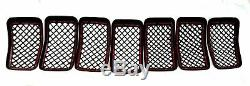 Black Horse 2019-2020 Jeep Cherokee Overlay Grille Trims Gloss Black
