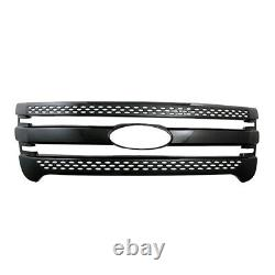 Black Snap On Grille Overlay Full Front Grill Covers Nouveau Pour 2011-2015 Ford Expl