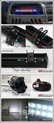 Blk Bull Bar Garde Bumper + 120w Cree Led Fog Lampe Pour 10-20 Toyota 4runner