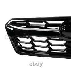 Bumper À L'avant Grille Supérieure Pour 18-20 Subaru Crosstrek Top Insert Glossy Black