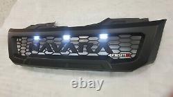 Calandre Avant Pour Nissan Navara Np300 2015-2020 Leds Blanches Matt Blk