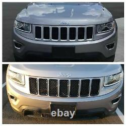 Cheval Noir 2014-2016 Jeep Grand Cherokee Superposition Grille Grille Gloss Black