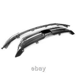 Chrome Avant Pare-chocs Supérieur + Grille Inférieure Pour Honda Crv Cr-v 2010 2011 Blk