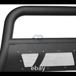 Convient 14-19 Toyota Highlander Matte Blk Studded Mesh Bull Bar Bumper Grille Garde