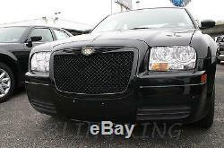 Convient 2005-2010 Chrysler 300 Noir Bentley Mesh Grille Chrome Bently Grill