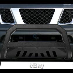 Convient 98-11 Ford Ranger Texturé Blk Avt Barre Bull Brosse Pousser Garde Bumper Grille