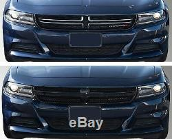 Dodge Charger Black Horse 2015-2019 Overlay Grille Trims Gloss Black